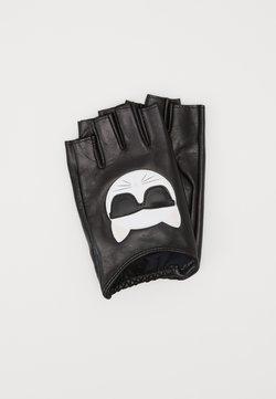 KARL LAGERFELD - IKONIK GLOVE - Fingerless gloves - black