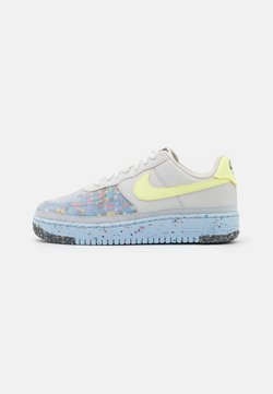 Nike Sportswear - AIR FORCE 1 CRATER - Sneaker low - pure platinum/barely volt/summit white/chambray blue/black