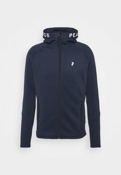 Peak Performance - RIDER ZIP HOOD - Fleecejacke - blue shadow