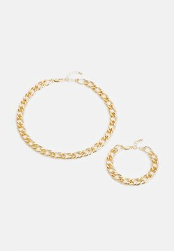 Pieces - PCLAUY BRACELET NECKLACE SET - Armband - gold-coloured