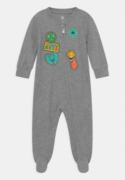Converse - FAUX PATCHES COVERALL UNISEX - Jumpsuit - dark grey heather