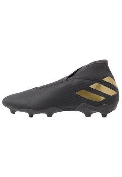 adidas Performance - NEMEZIZ 19.3 LL FG - Chaussures de foot à crampons - core black/gold metallic/utility black