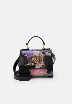 Alberta Ferretti - MEDIUM FLORAL TOP HANDLE - Torebka - fantasy black