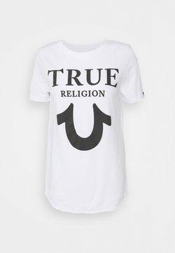 True Religion - CREW TRUE LOGO - T-Shirt print - white