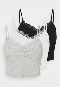 Even&Odd - 3 PACK - Top - black/white/light grey