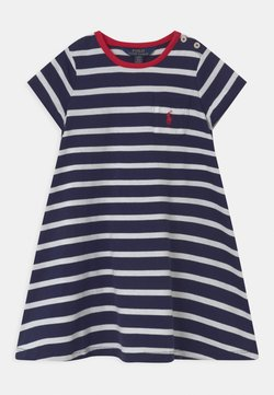 Polo Ralph Lauren - SWING  - Jerseykleid - french navy/white