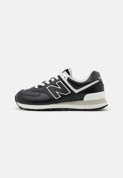 New Balance - WL574 - Matalavartiset tennarit - black/white