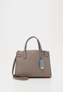 Tory Burch - WALKER TRIPLE COMPARTMENT SATCHEL - Torebka - gray heron