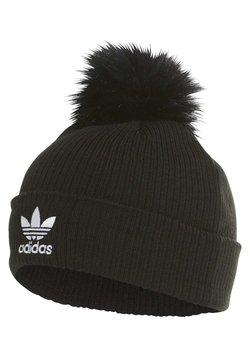 adidas Originals - FAUX FUR POMPOM BEANIE - Muts - black