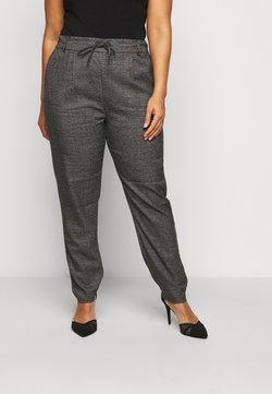ONLY Carmakoma - CARGOLDTRASH  PANT - Pantalon classique - black