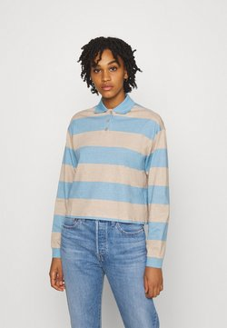 Monki - Langarmshirt - blue light/beige light