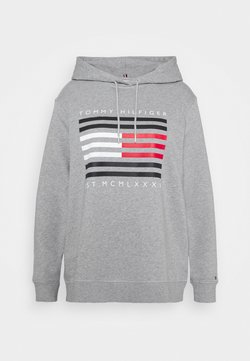 Tommy Hilfiger Curve - REGULAR FLAG HOODIE - Huppari - light grey