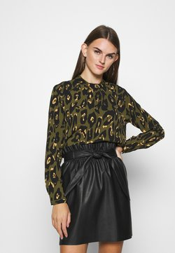 ONLY - ONLNEW MALLORY  BLOUSE - Bluse - black/capetown