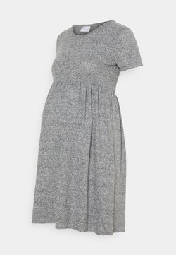 MAMALICIOUS - MLCAILA DRESS - Sukienka dzianinowa - medium grey melange