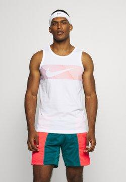Nike Performance - TANK - Funktionsshirt - white/hyper crimson