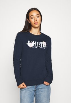 Hollister Co. - CHAIN CROPPED ICON  - Sweatshirt - navy