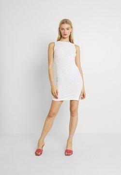 Glamorous - SIDE SPLIT SLEEVELESS MINI DRESS WITH HIGH ROUND NECKLINE - Jerseykleid - off white