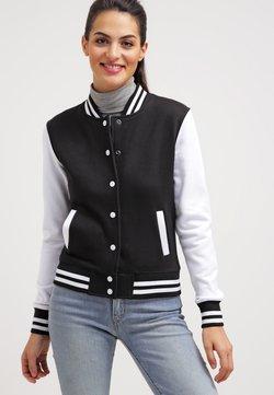 Urban Classics - LADIES 2-TONE COLLEGE SWEATJACKET - Leichte Jacke - black/white