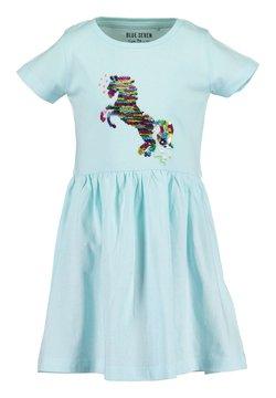 Blue Seven - HORSES - Jerseykleid - aqua