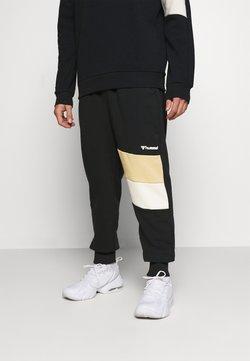 Hummel - HMLAIDAN REGULAR PANTS - Verryttelyhousut - black