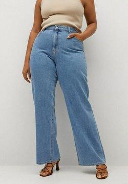 Violeta by Mango - ERIKA - Flared jeans - mittelblau