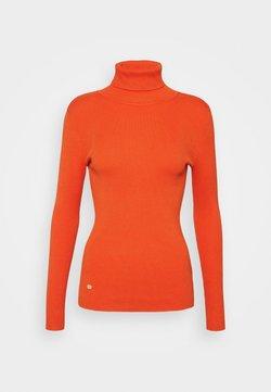 Lauren Ralph Lauren - TURTLE NECK - Strickpullover - dusk orange