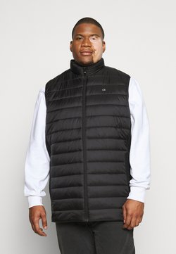 Calvin Klein - LIGHT WEIGHT SIDE LOGO VEST - Waistcoat - black