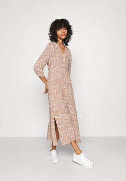 YAS - YASCORNA LONG DRESS - Sukienka koszulowa - tawny brown