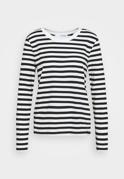 Selected Femme - SLFSTANDARD TEE  - Langarmshirt - black/snow white
