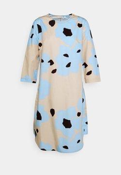 Marimekko - JOUKKO LIITO DRESS - Freizeitkleid - sand/blue/dark brown
