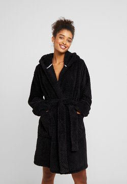 Cotton On Body - HOODED LUXE PLUSH GOWN - Badjas - black