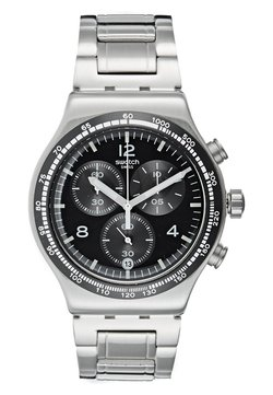Swatch - NIGHT FLIGHT - Montre à aiguilles - silver-coloured