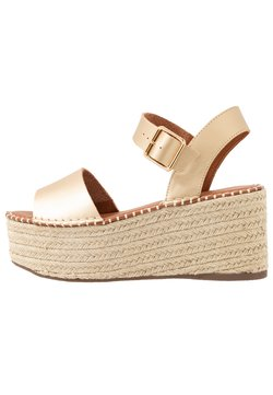 Topshop - DOVE WEDGE - Plateausandalette - gold