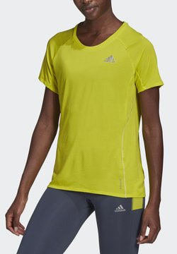 adidas Performance - ADI RUNNER PRIMEGREEN RUNNING - Camiseta básica - yellow