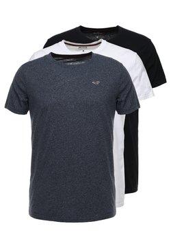 Hollister Co. - CREW CHAIN 3 PACK - T-shirt basique - white