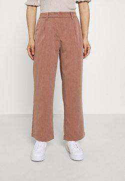 Noisy May Petite - NMALMOND DAD PANT PETITE - Pantalones - partridge melange
