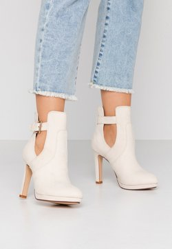 Buffalo - JONA - High heeled ankle boots - pastel/beige