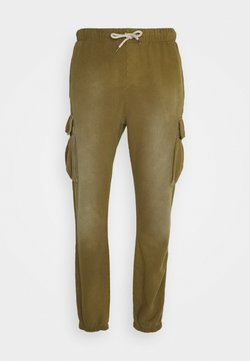 Caterpillar - HEAVY WASHED - Cargo trousers - olive