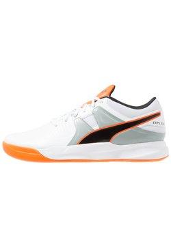 Puma - EXPLODE 2 - Håndboldsko - white/quarry/shocking orange