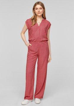 s.Oliver - MET WIJDE PIJPEN - Jumpsuit - true red embroidery