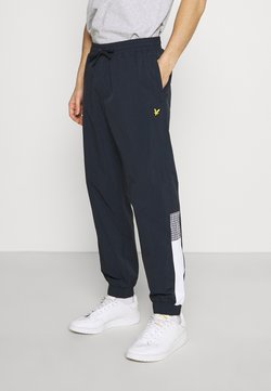 Lyle & Scott - GINGHAM TRACK PANT - Jogginghose - dark navy