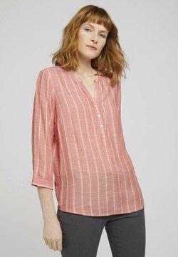TOM TAILOR - Bluse - peach stripe vertical
