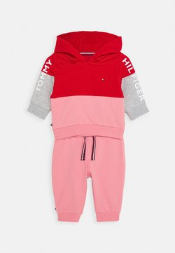 Tommy Hilfiger - BABY COLORBLOCK HOODIE SET - Sweater - red