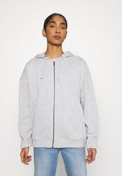 Even&Odd - Oversized Hooded Sweat Jacket - Sweatjacke - mottled light grey