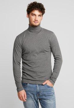 Marc O'Polo - LONGSLEEVE TURTLENECK - Langarmshirt - graphite grey melange