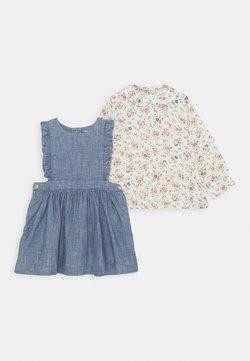 Polo Ralph Lauren - RUFFLE JUMPER SET - Vestido informal - indigo