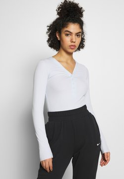 Nike Performance - YOGA LUXE HENLEY BODYSUIT - Body deportivo - aura/platinum tint