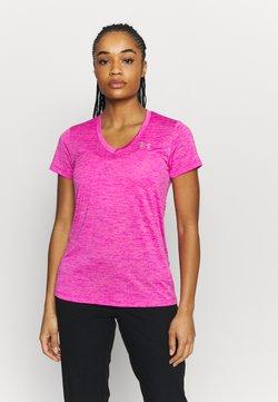 Under Armour - TECH TWIST - T-Shirt basic - meteor pink