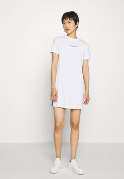Calvin Klein Jeans - DRESS WITH TAPE - Etui-jurk - bright white