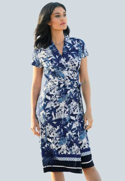 Alba Moda - Jerseykleid - blau,off-white